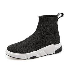 Aphixta Schuhe Frauen Höhe Zunehmende Ankle Stiefel Spitz Stoff Slip-On Damen Mujer Sping Schnee L Mode Frau schuhe(China)
