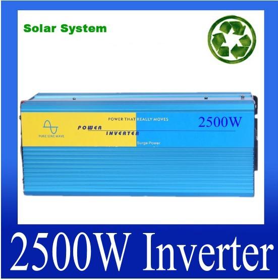 Pure sine wave inverter 48v 220v, 2500W solar inverter,dc ac power converter/transformer 2500W<br><br>Aliexpress