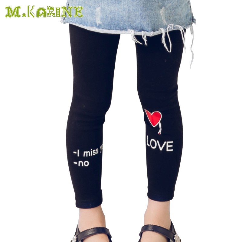 New Arrival 2016 Hot Spring Girls Leggings Baby Child Pants Autumn Toddler Kids Clothes Slim Trousers Love Letters Girls Pant(China (Mainland))