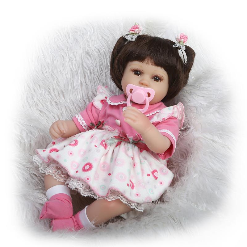Toys Baby Girl : Aliexpress buy cm new slicone reborn baby doll toy