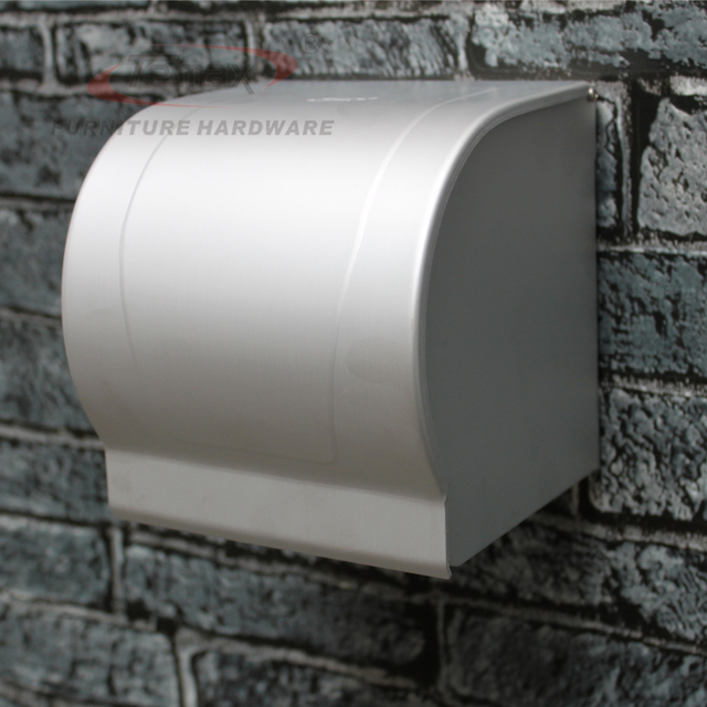 space aluminum toilet paper holder roll tissue box  with cover dispenser washroom bathroom accessories