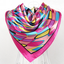 2015 New Design Women Polyester Silk Big Square Silk Scarf,90*90cm Hot Sale Satin Scarf Printed For Spring,Summer,Autumn,Winter(China (Mainland))
