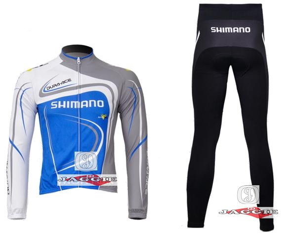 Winter clothes! 2011 #4 SHlMANO Winter long sleeve cycling jersey+pants bike bicycle thermal fleeced wear set + Plush fabric!(China (Mainland))