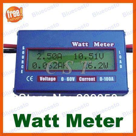 60V/100A Digital LCD Balance Battery Power Voltage Analyzer Watt Meter Voltage Meter RC hobby DC circuits Solar system Boat/RV(China (Mainland))