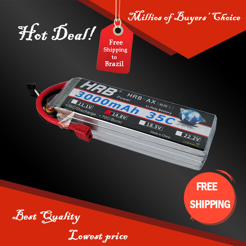 Free Shipping HRB Wholesale Price 14.8V 3000mah 35C Max 55C Toys & Hobbies For Helicopters RC Models Li-polymer Battery(China (Mainland))