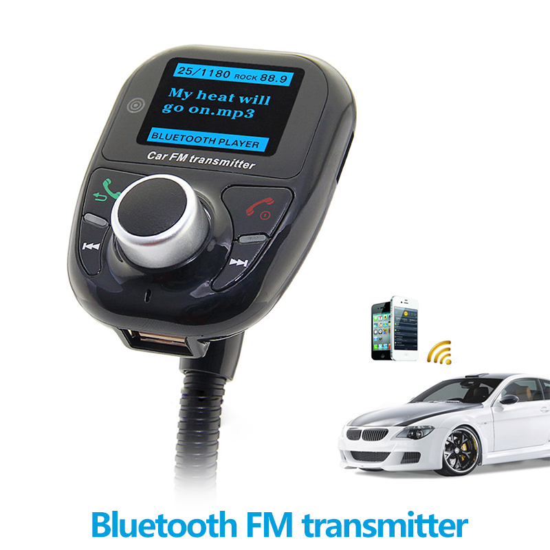 FM Transmitter Bluetooth Handsfree Car Kit MP3 Music Player Radio Adapter with Remote Control For iPhone Samsung LG Smartphone(Hong Kong)