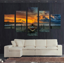 Unframed 5 Pcs Large HD Seaview With ShipTop-rated Canvas Print Painting for Living Room Wall Art Picture Gift Decoration Home(China (Mainland))