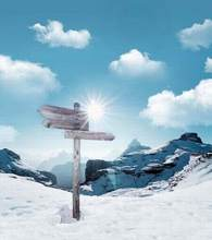 2M*1.5M(6.5FT*5FT) photo studio floor Snow signpost broken rockChristmas backgroundsZZ CM-0226