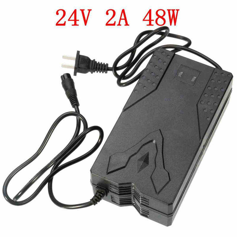 High Quality For DC 24V 2A 48W Electric Scooter Battery Charger For RAZOR E100S E150 E200S E225S E300S E325S US Plug(China (Mainland))