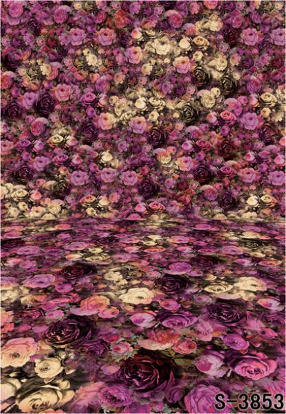 300cm*200cmRose flowers wallpaper photography backdrops photography background Valentine's Day(China (Mainland))