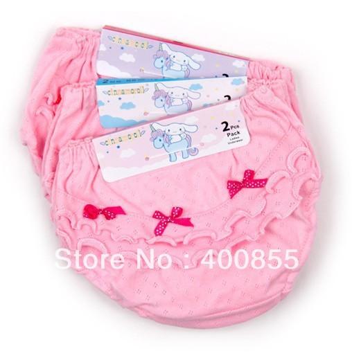 Explosion models Korean girls lace bread panties,kids cotton briefs,childrens underwear,wholesale 40pcs random delivery