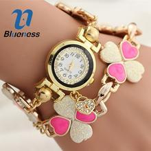 Blueness Orologio Clock Heart Rinestone Wrist Women Bracelet Watch Montre Femme Rreloj For Ladies Luxury Brand Analog Watches