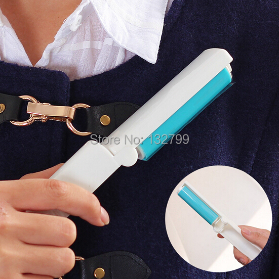 Folding Washable Lint Roller Dust Hair Remover Cloth Sticking Brush Cleaner Manual Tool()