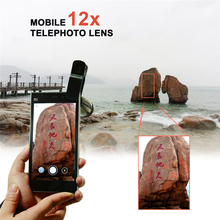 Buy Universal Clips 12X Telephoto Lens Mobile Phone Camera Lenses Optical Telescope Zoom Lentes iPhone 5 s 6 6s 7 Sumgung Xiaomi for $8.71 in AliExpress store