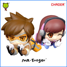 Mr.Froger OW Tracer Figure Over D.Va Action Figures Toys Chibi Dolls Game PVC Kids Games Figura POP Cute Watches Anime Figurine(China (Mainland))