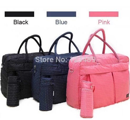 Free Shipping! Wholesale 3 Colors Stroller Bag Nappy Bags Baby Diaper Bag Mother Bag With Large Capacity For Mummy Travel(China (Mainland))