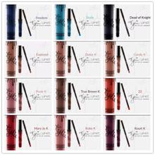 12 Colors New 2 Pcs/lot  Kylie Jenner lip Kit & Lipliner lipgloss Kylie Lip Gloss Lipstick liquid lipstick matte kylie lip kit(China (Mainland))