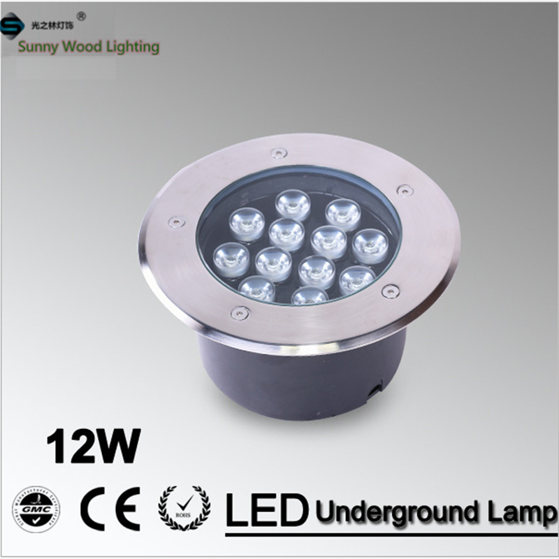 Free shipping LED underground lamp 12W inground light ,built in IP67 outdoor lighting AC85-265VLUL-A-12W(China (Mainland))
