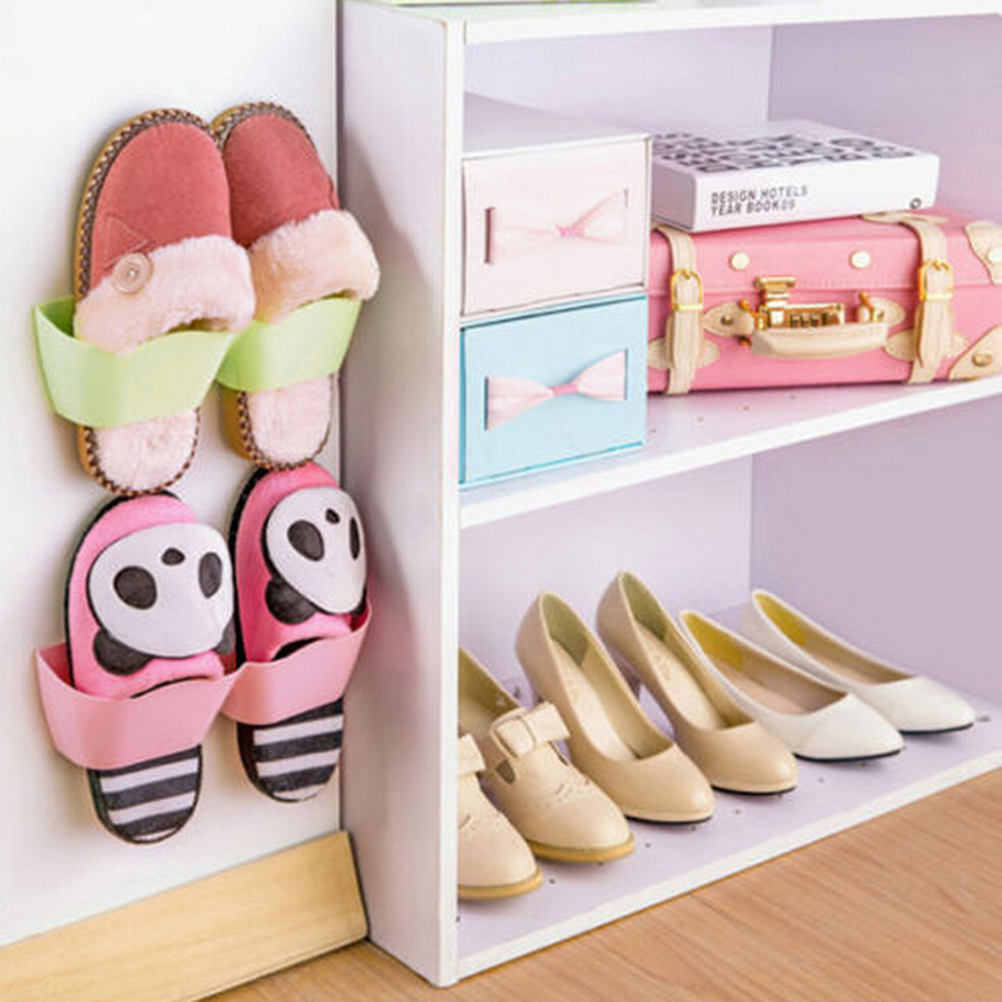 2016 New Fashion Shoe Rack Best Deal Creative Plastic Shoe Shelf Stand Cabinet Display Shelf Organizer Wall Rack Storage Tools(China (Mainland))