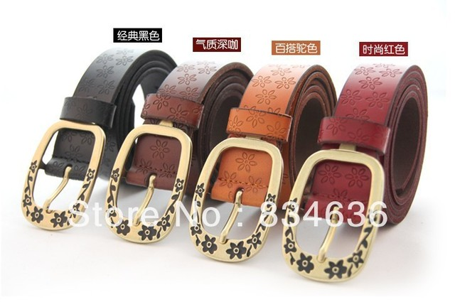 Genuine leather high quality women's strap Women fashion cowhide belt wholesale