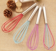 High Quality Silicone Kitchen Accessories Manual Egg beater Simple Butter Churn Flour Stirrer Free Shipping