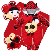 Buy Lovely Infant Winter Warm Jumpsuit Baby Boys Cotton Thicken Warm One Piece Suit Toddler Girls Cartoon Rompers Newborn for $15.09 in AliExpress store
