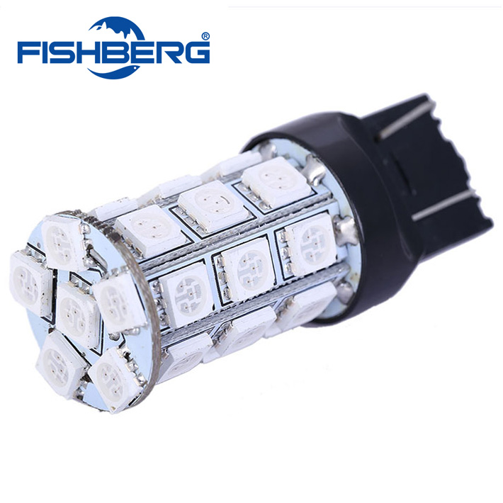 T20 WY21W SMD5050 LED Car Brake Rear Stop Light Bulb Lamp 7443 T20 27SMD 5050 LED 360 Lighting Red FREE SHIPPING(China (Mainland))