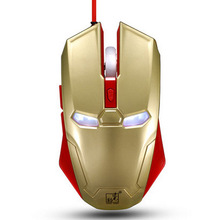 Iron man S3 spotlight leopard mouse game mouse USB notebook computer gaming wired optical mouse