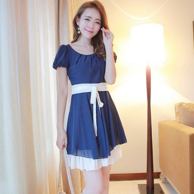 NEW ARRIVAL NEW ARRIVAL 2013 summer women's r3428 sweet princess ruffle bubble short-sleeve dress  FREESHIPPING FREESHIPPING