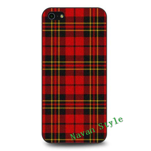 RED font b TARTAN b font PLAID case cover for iphone 4 4s 5 5s 5c