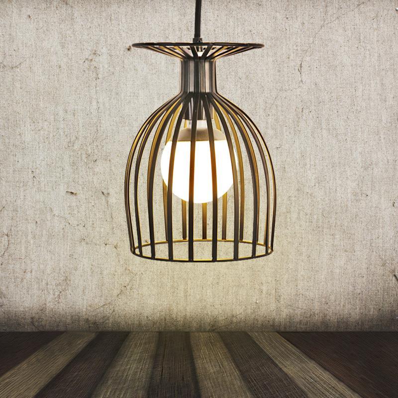 Здесь можно купить  Unique American Style Edison Pendant Light Vintage Birdcage Decoration Industrial Pendant Lamp Hanging Lights E27 220V Fixture  Свет и освещение