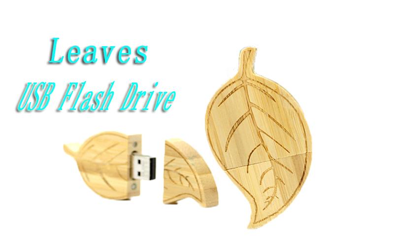 HOT!usb flash drive wood leaf pen drive 4G Memory Stick 8G u disk 16G 32G USB Flash Drive Memory Stick pendrives u disk bamboo(China (Mainland))