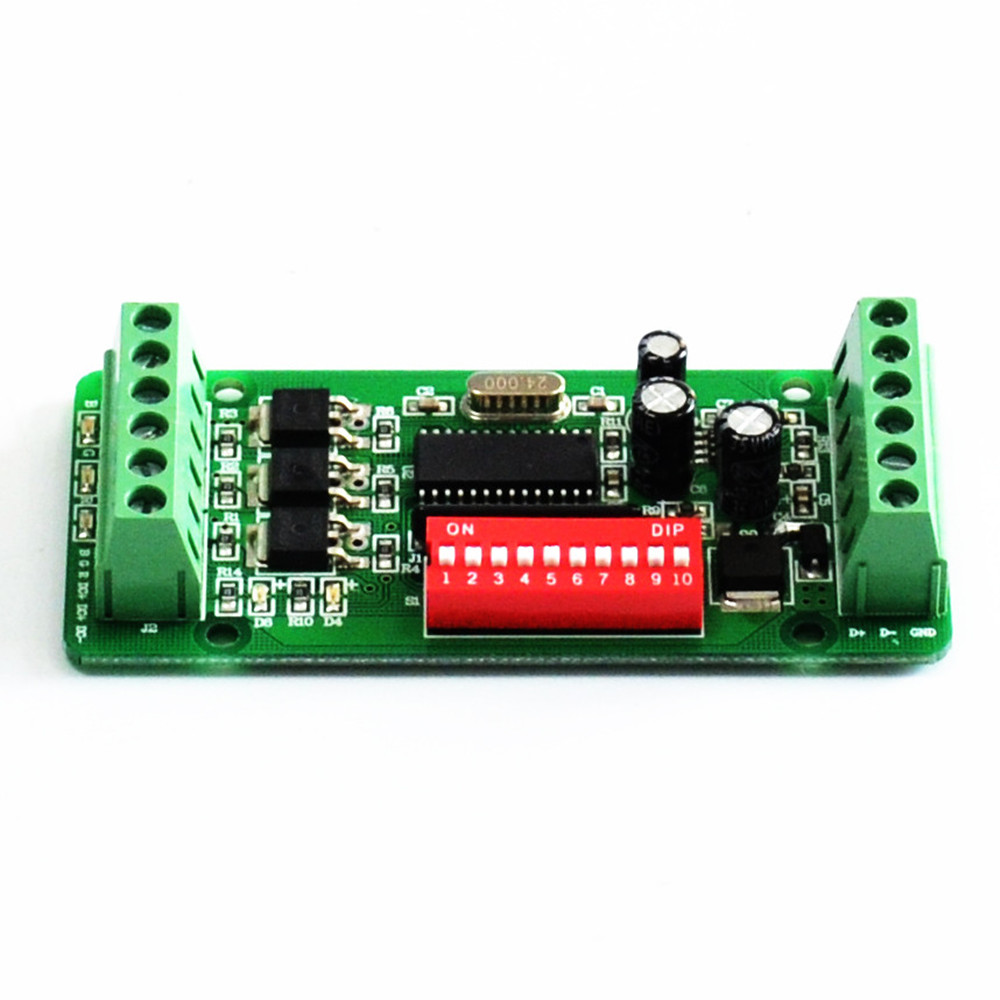 3CHANNEL EASY DMX LED RGB controller DMX Decoder&driver RGB led controller(China (Mainland))