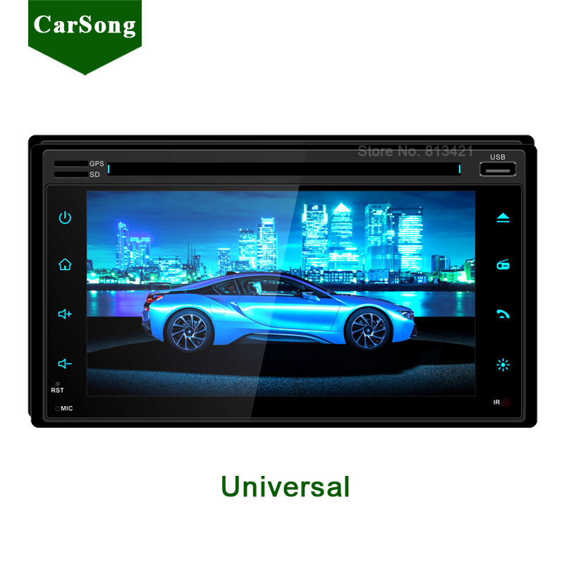 New Universal Car DVD Player GPS Navigation 2 Din In Dash Multimedia Radio Audio Stereo System Capacitive Touch Screen+Free Ma'p(China (Mainland))