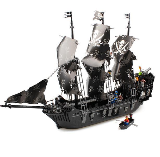 1123pcs Pirates of the Caribbean series black boat building blocks ...