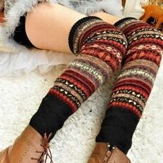 Гетры для Женщин Зимы Мода Крючком Вязаные Гетры, 35% Шерсть производства Толщиной ...