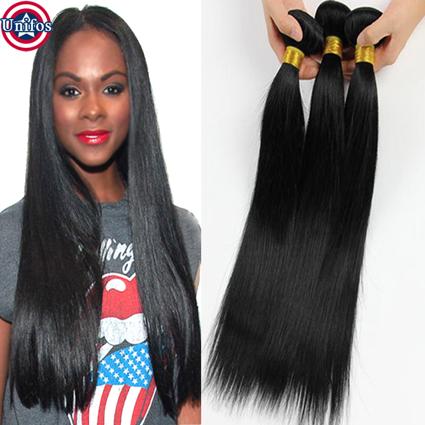 Jet Black Human Hair Straight 100 Percent Brazilian Hair Unprocessed Natural Extensiones 1 Bundle Of Brazilian Straight Hair<br><br>Aliexpress