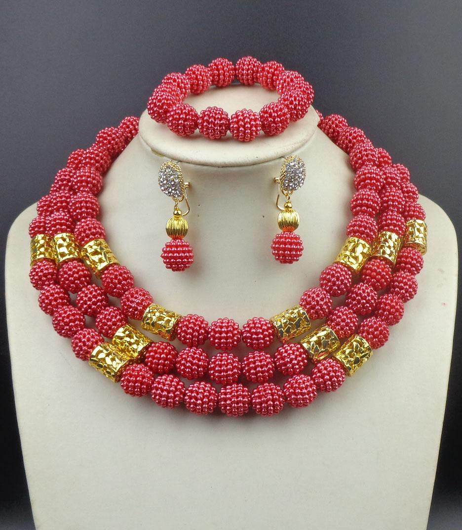 2015 Fashion nigerian wedding african beads jewelry set african costume jewelry set jewelry dubai free shipping<br><br>Aliexpress