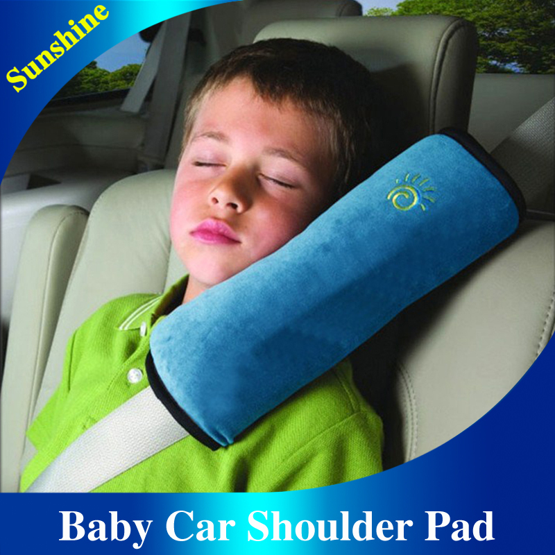 Freeshipping Baby Auto Pillow Car Safety Belt Protect Shoulder Pad adjust Vehicle Seat 5 Colors Belt Cushion for Kids Children(China (Mainland))