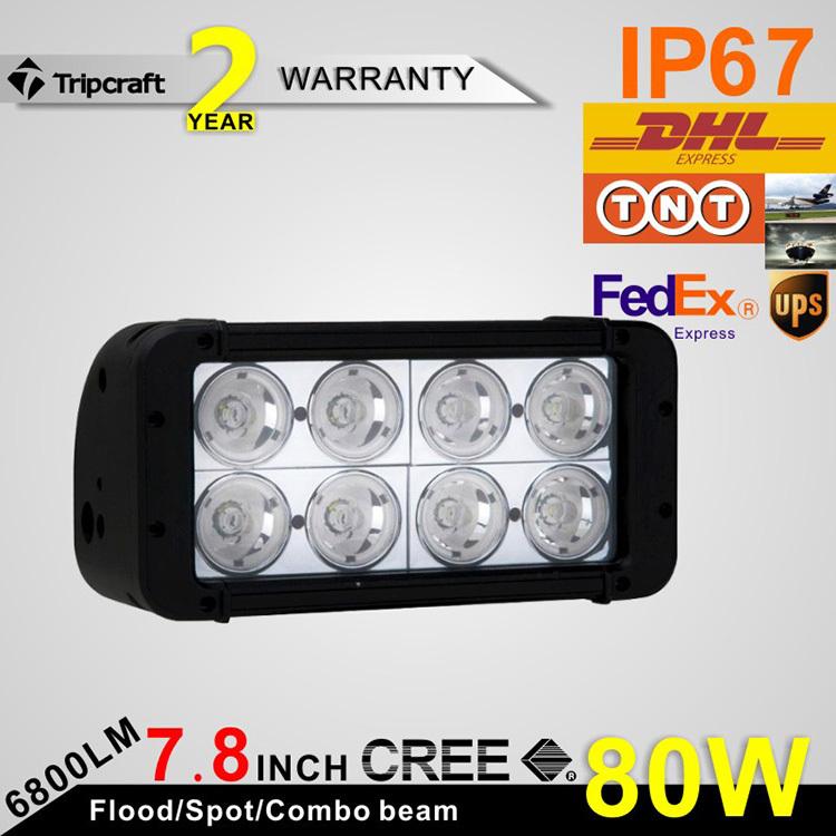 High Intensity! 7.8INCH 80W CREE DRIVING LED LIGHT 6800LM Flood Spot Light For SUV ATV OffRoad Car 12v 24v Flood Spot<br><br>Aliexpress