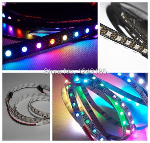 DC 5V 60LED/M WS2812B WS2811 IC chip 5050 RGB Dream color Addressable LED Strip  bare board NP<br><br>Aliexpress