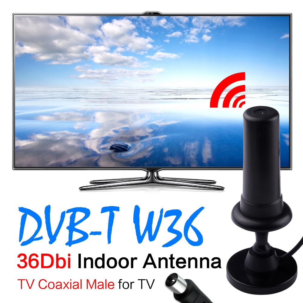 Гаджет  36dBi Digital DVB-T DVB T HDTV Freeview Aerial Booster Antenna For HDTV TV Black EL5935 None Бытовая электроника