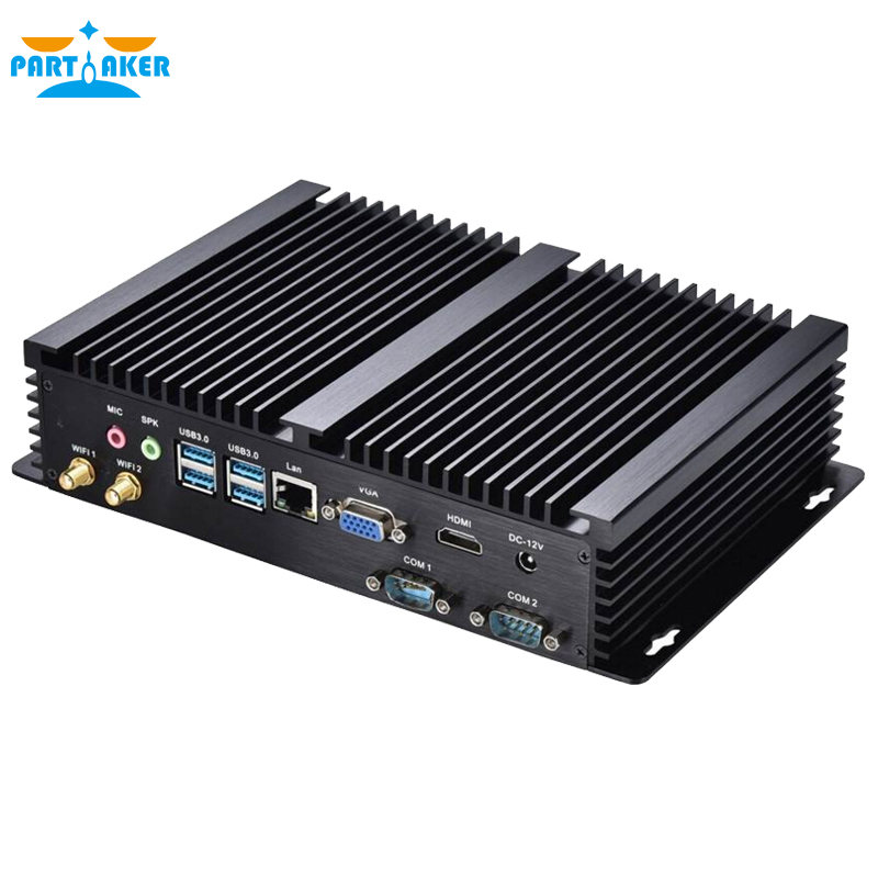 Fanless Industrial Mini PC Linux Cloud Terminal with 8G RAM SSD Intel Core i3 4010U 1.7Ghz 2*COM 4*USB 3.0(China (Mainland))