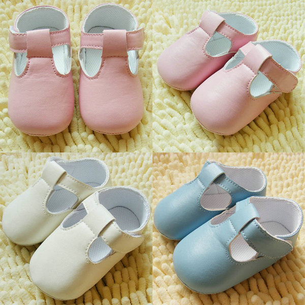 Hot Baby first walker shoes Infant Toddler PU Leather Crib Shoes Soft Prewalker SZ 11 12 13 Free Shipping