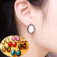 1 Pair  Vintage Jewelry Tennis Earrings Ear Stud 7 Styles For Woman Girls(China (Mainland))