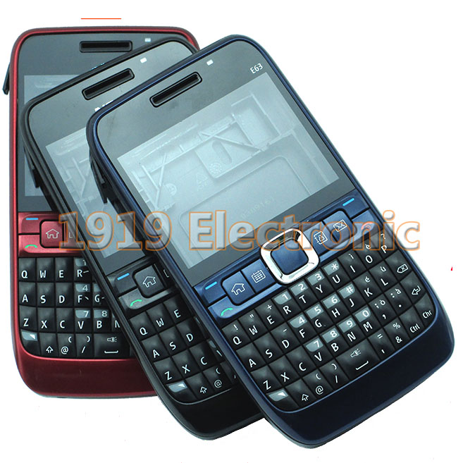New Full Complete Mobile Phone Housing Cover Case+Enlish Keypad For Nokia E63 + Tools+Tracking(China (Mainland))