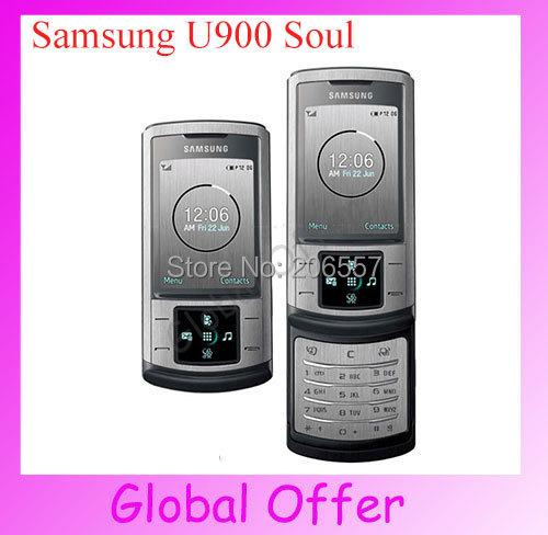 Original Unlocked Samsung U900 Soul Cellphone Bluetooth FM Radio refurbished NETWORK Technology GSM(China (Mainland))