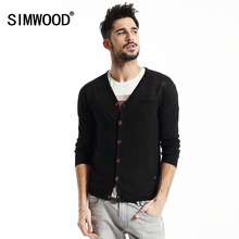 2016 New Arrival Simwood Brand Men Sweater Thin V-neck Slim Fit Casual Knitted Cardigan Mens Free Shipping MY2004(China (Mainland))