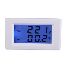 New высокого качества Digital AC 100-300V 50A амперметр вольтметр ЖК Вольт Ампер метр панели Белый NG4S