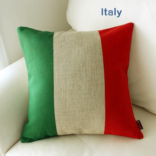 <font><b>Italian</b></font> Flag pillow case, Italy pillowcase, simple logo Flag of Italy throw pillow case pillow cover no core